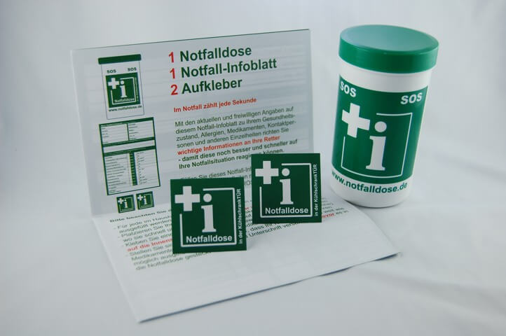 Ab sofort im Sortiment: Notfalldosen